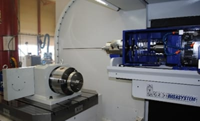 Accurate Drilling: Example of accurate drilling in the center of the shafts with the help of a rotating chuck